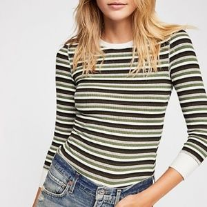 Free People Good On You Striped Long Sleeve Tee